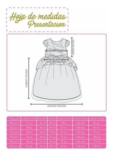 vestido niña presentacion clausuras kinder paje mod elizabet