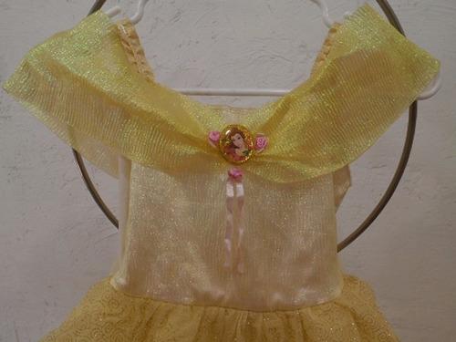 vestido niña princesa disney bella talla s 4-6 años #100