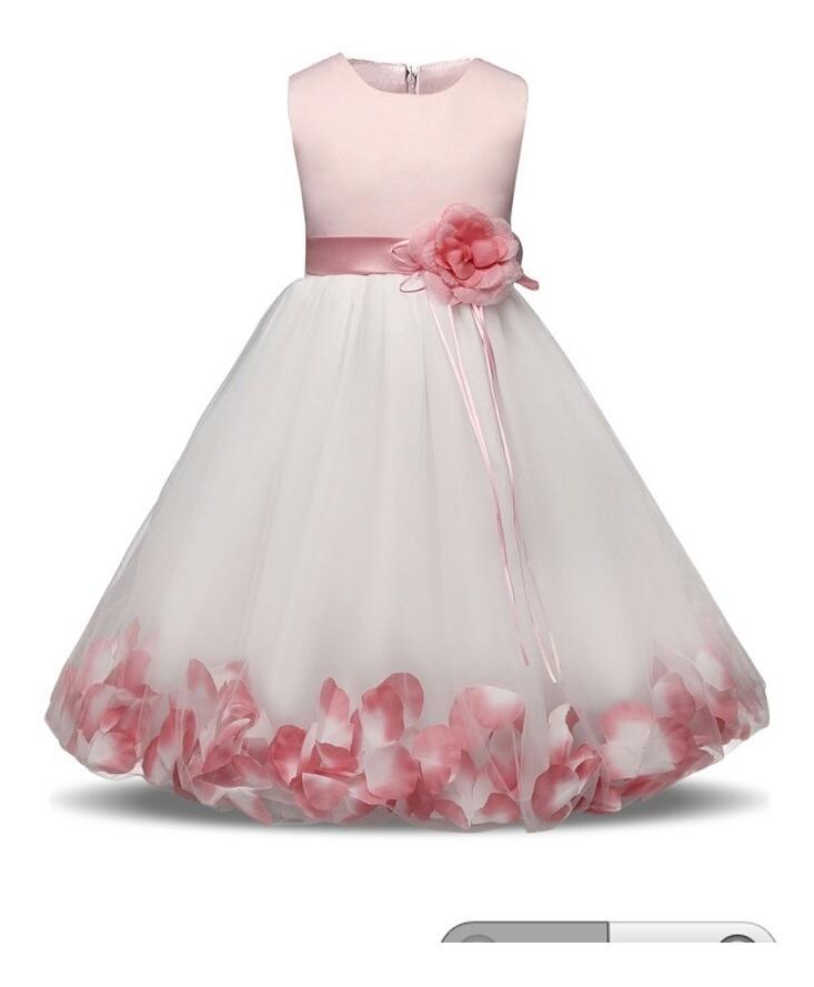 Vestido Niña Princesa Fiesta Pajecita Elegante Boda Bautizo
