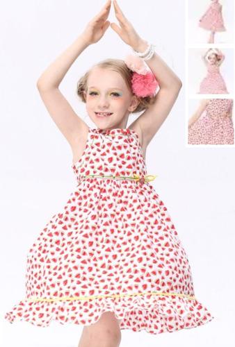 vestido niña sandías varias tallas4 y 7 años el 2do en $300