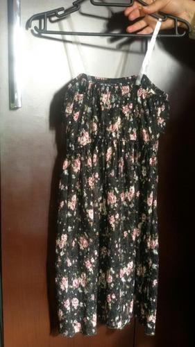 vestido niña strapless de gasa estampado