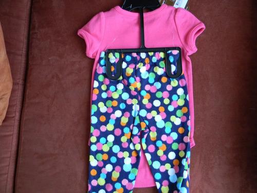 vestido niñas conjunto carter´s  talla 9m meses bebes