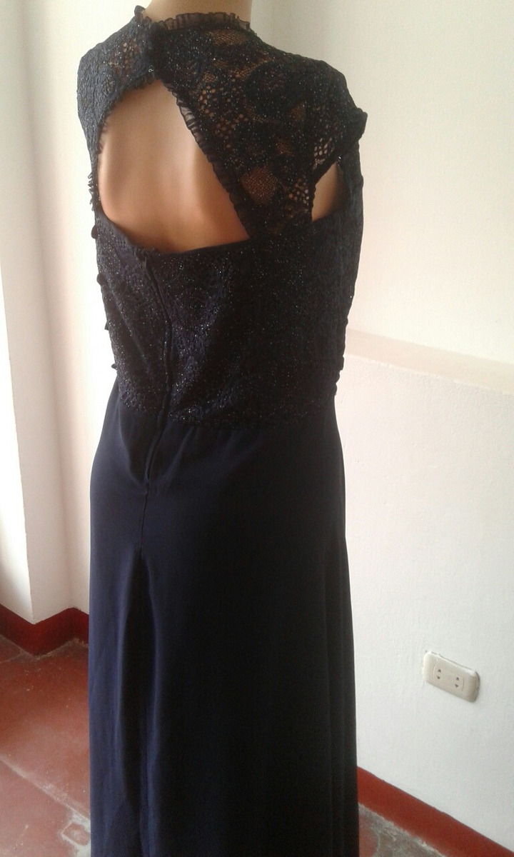 c4a702aae vestido noche azul marino talla m modelo brusela. Cargando zoom.