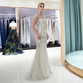 Vestido Noche Corte Sirena Envio Gratis P 180730003