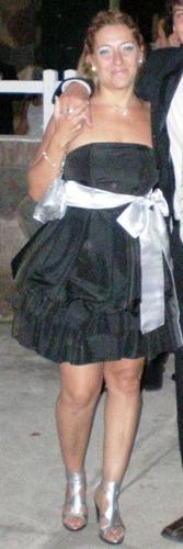 vestido noche strapless ****rosario****