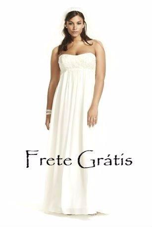 99c0e72bee Vestido Noiva Boho Chic Renda Bordada E Musseline Plus Size - R ...