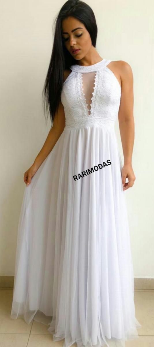 9248f06afaf3 vestido noiva branco casamento civil cartório campo longo. Carregando zoom.