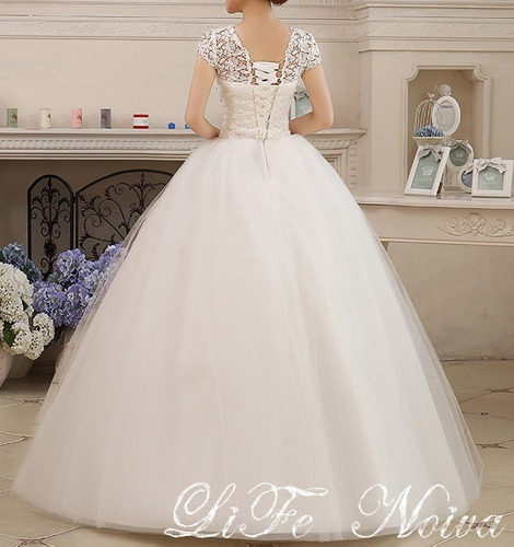 vestido noiva brilho casamento debutante 16fli