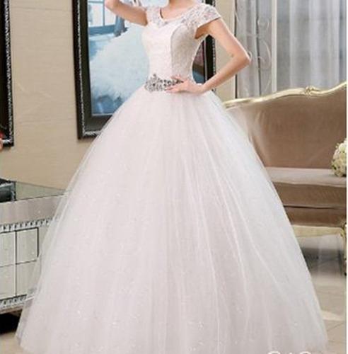 vestido noiva casamento debutante cristal 14fli' 1'