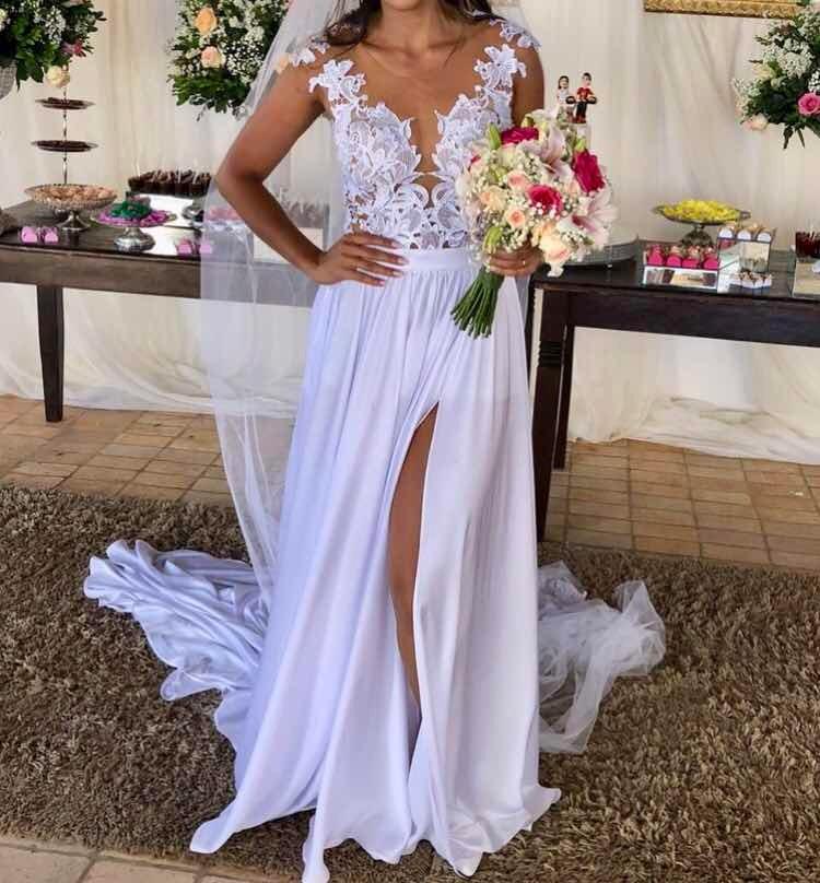 Vestido Noiva Casamento Praia Campoetc Cvéu Fotos Reais