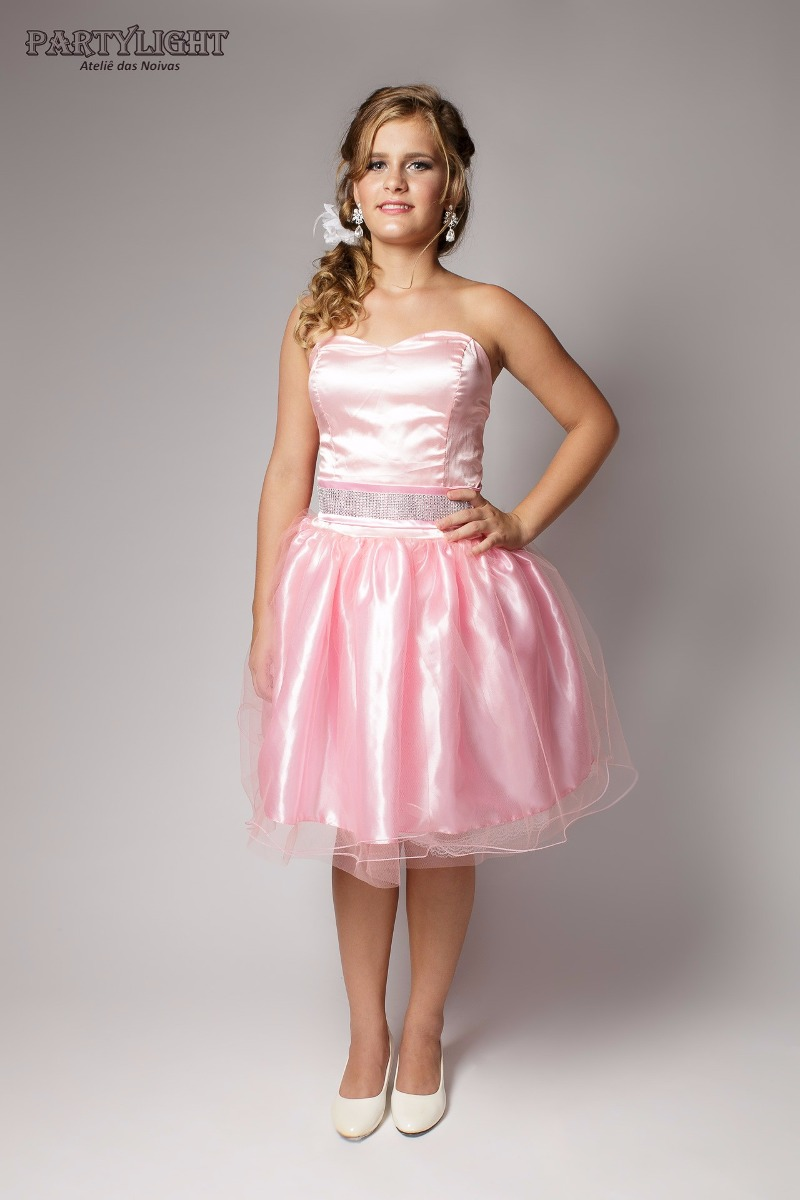 Vestido de noiva curto rosa – Vestidos de noche de moda en España