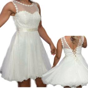 3ebd090b75 Vestido De Noiva Curto Usado Baratos - Vestidos Femininas