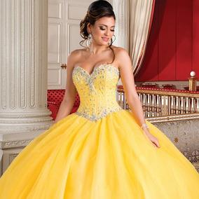 Vestidos 15 Anos Curto Organza Vestidos Amarelo Com O