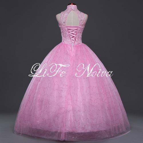 vestido noiva debutante rosa 15 anos lindo pronta entrega 59