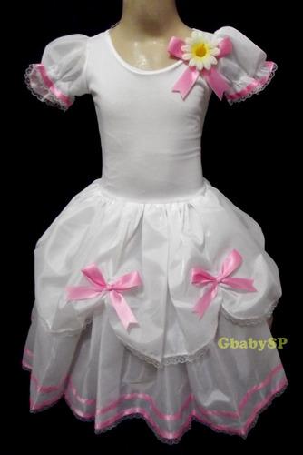 vestido noiva junino infantil fantasia festa junina caipira