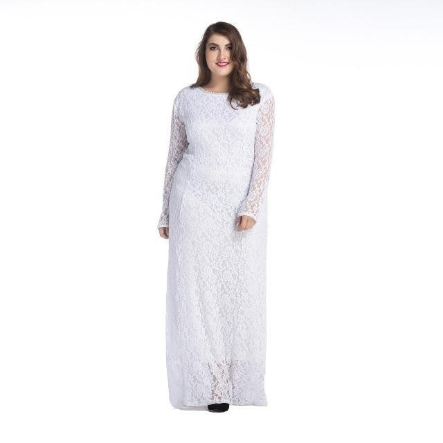 d5a800af5f Vestido Noiva Plus Size Renda Simples E Elegante Sob Medida - R  399 ...