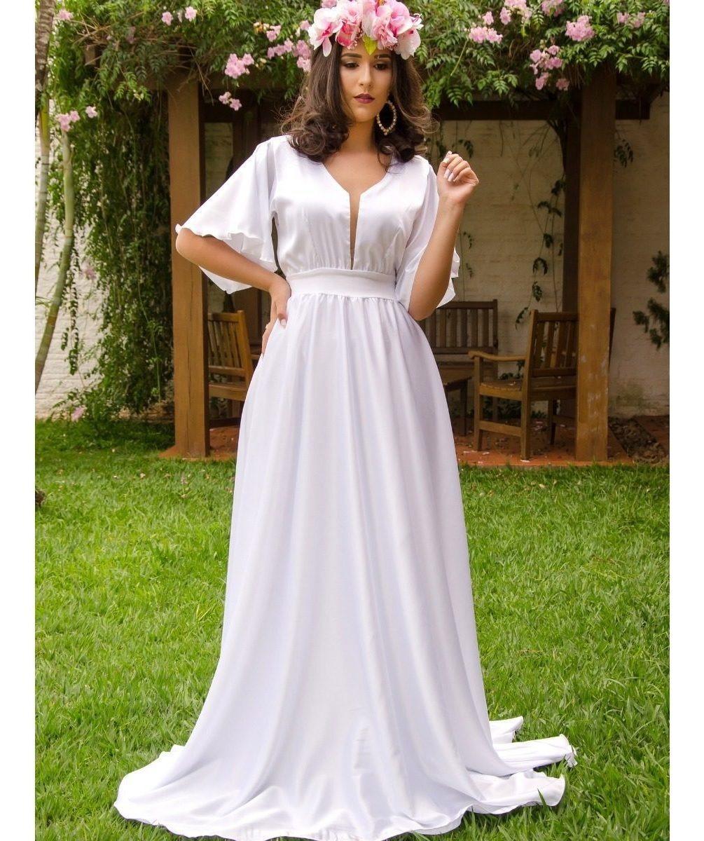 Vestido Noiva Pre Casamento Campo Vestido Pre Wedding Luxo