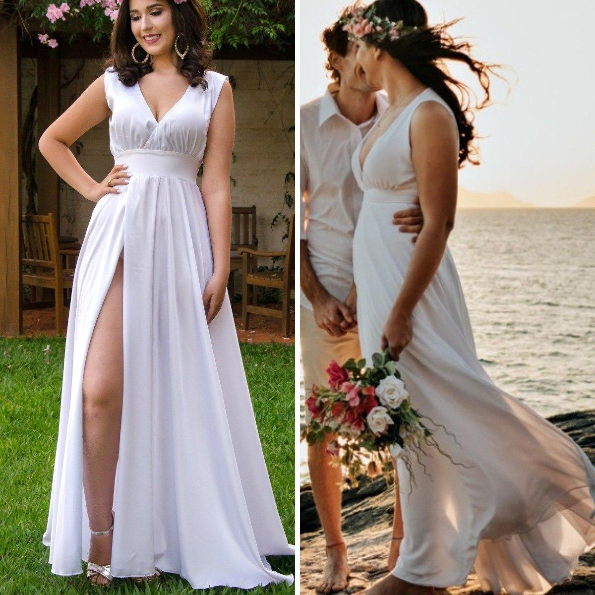 Vestido Noiva Pre Wedding Pre Casamento Luxo Sem Forro