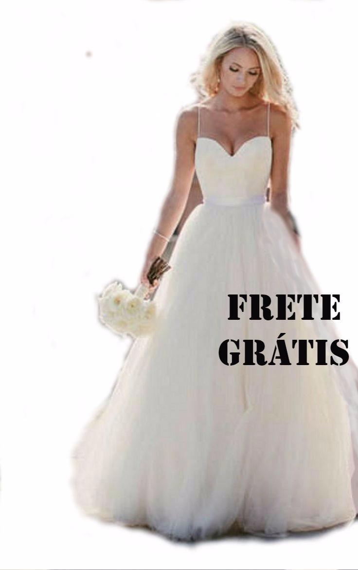 13aaef264297 vestido noiva princesa renda e tule tradicional boho plus. Carregando zoom.