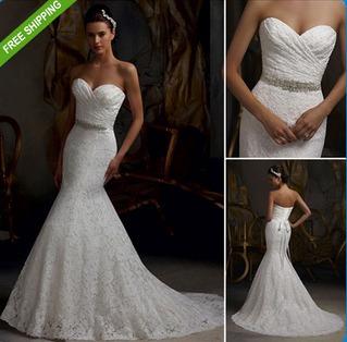 vestido noiva renda casamento tomara que caia - sereia nf