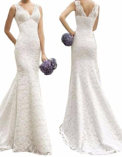 vestido noiva simples casamento decote costas calda vrl526