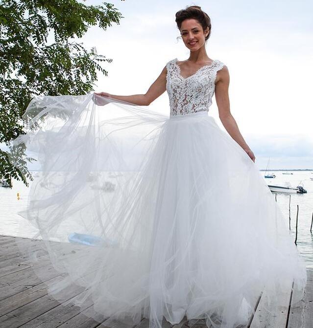 913e3f93e522 Vestido Noiva Tule Cropped Renda Personalizado Sob Medida - R$ 1.690 ...