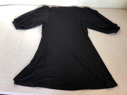 vestido normandie negro de viscosa talle l