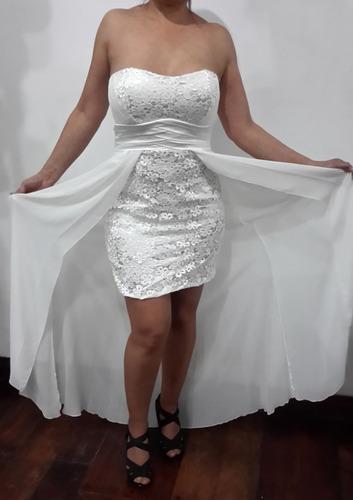vestido novia 15 años o fiesta encaje y seda