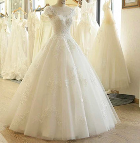 Vestido Novia Barato Economico Alta Costura Blanco Ivory Sul