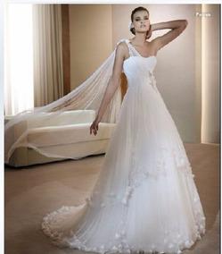 35905f2d6 Vestido Novia Blanco Largo Fino Boda Noche Bodas Quinceaños