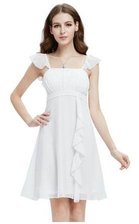 vestido novia boda civil nuevos color blanco mod. tahiti