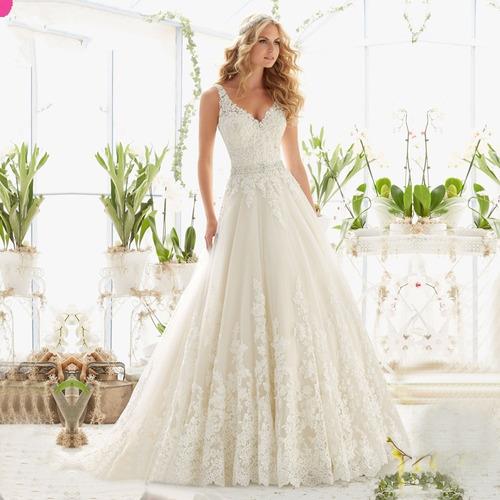 vestido novia boda corte princesa importado mod. 68625524
