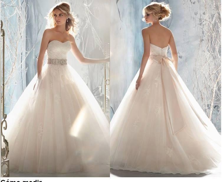 vestido novia bretel desmontable - $ 7.900,00 en mercado libre