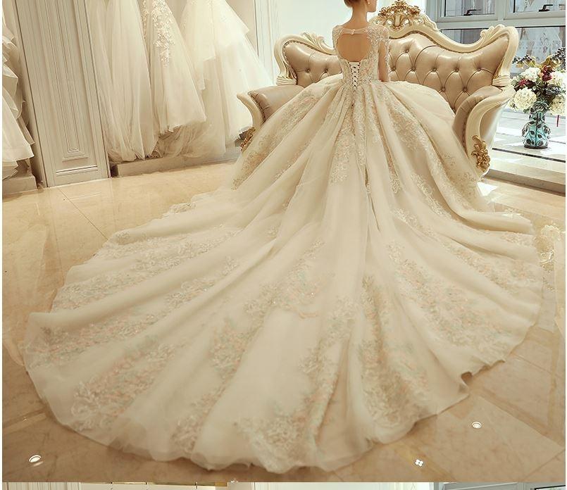vestido novia. color champagne - $ 15.500,00 en mercado libre