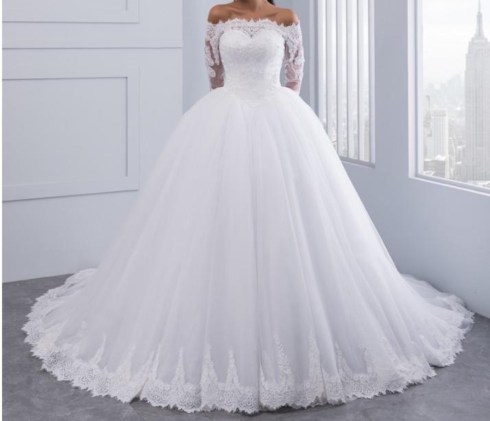 vestido novia cuello barco- personalizado- - $ 12.500,00 en mercado