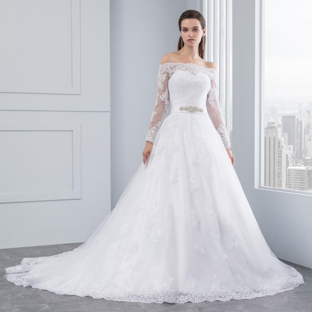 Vestido Novia De Princesa Encaje Cinto Pedreria Ivory Blanco