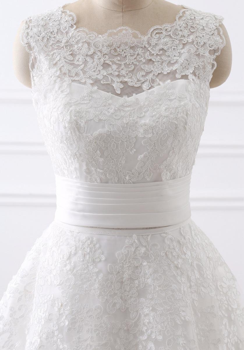 3acc259236 Vestido Novia Desmontable Nuevo Barato Bonito Elegante J11 ...