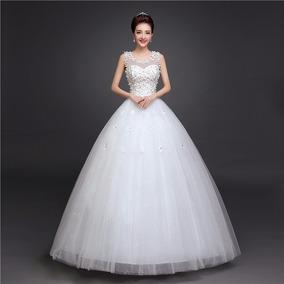 50984245c Vestido Novia Económico Corte Princesa Estilo Coreano Flores
