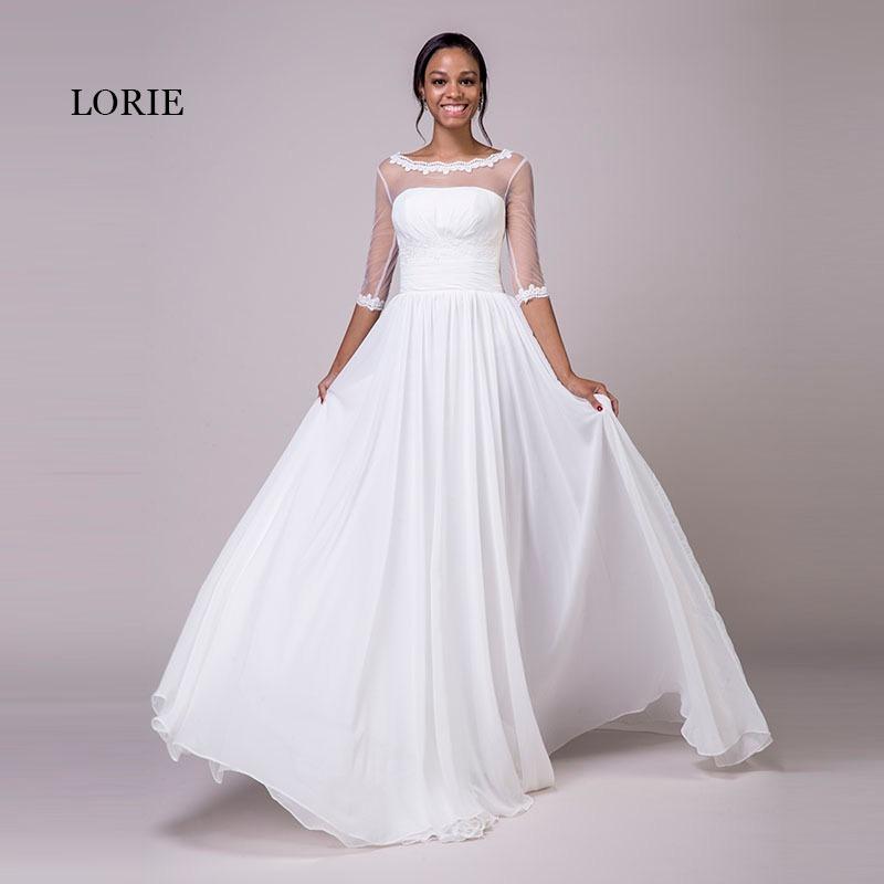 Vestidos de novia en manga larga