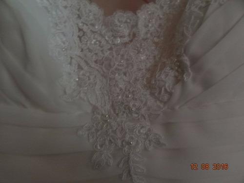 vestido novia ivory seda con capa