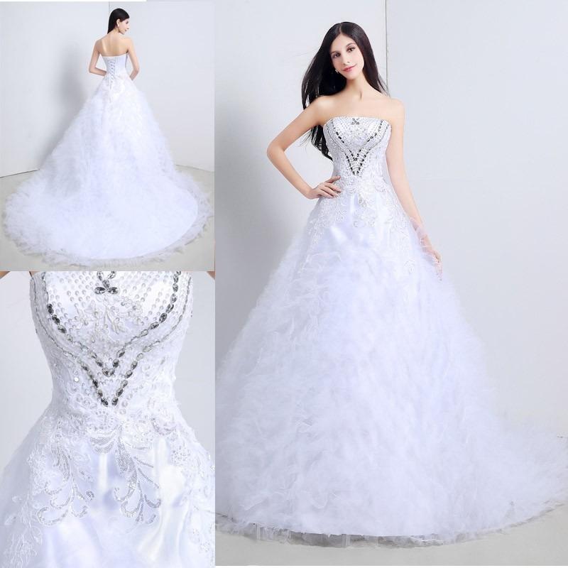 vestido de novia largo princesa de piedras tul elegante - $ 6,990.00