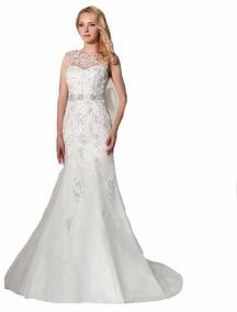 Vestido Novia Nuevo Barato Bonito Elegante Boda Modelo 39 Sa