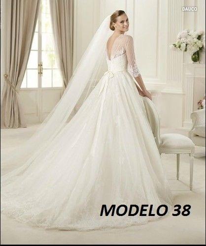 vestido novia nuevo barato bonito elegante español hermoso38