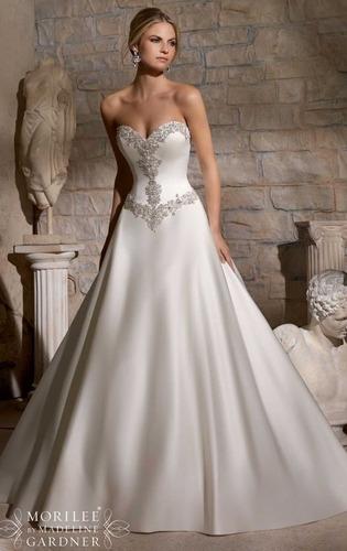 vestido novia nuevo barato bonito elegante princesa 2703