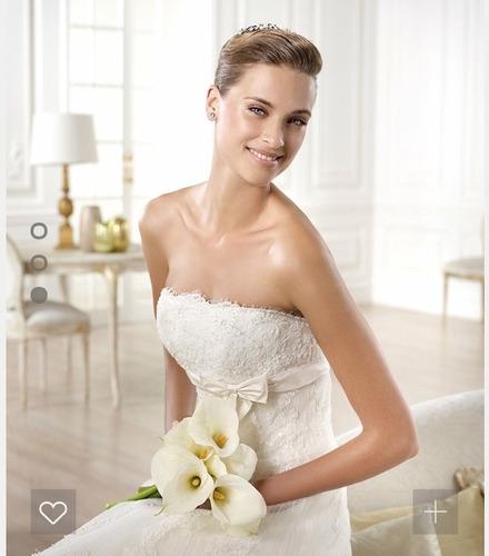 vestido novia nuevo barato bonito elegante princesa gomera