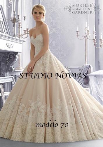 vestido novia nuevo barato bonito elegante princesa sirena70
