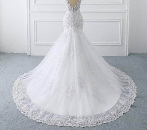 vestido novia nuevo barato fotos reales blanco ivory sire mi