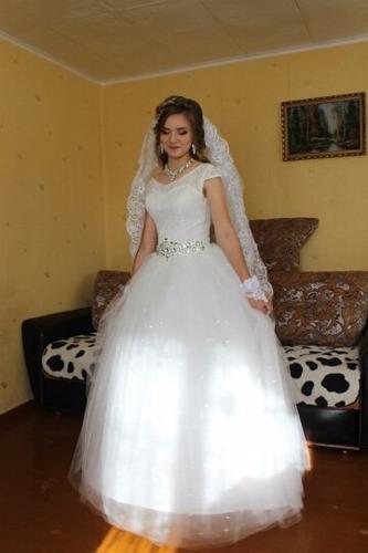 vestido novia princesa manga corta  ivory  hermoso f