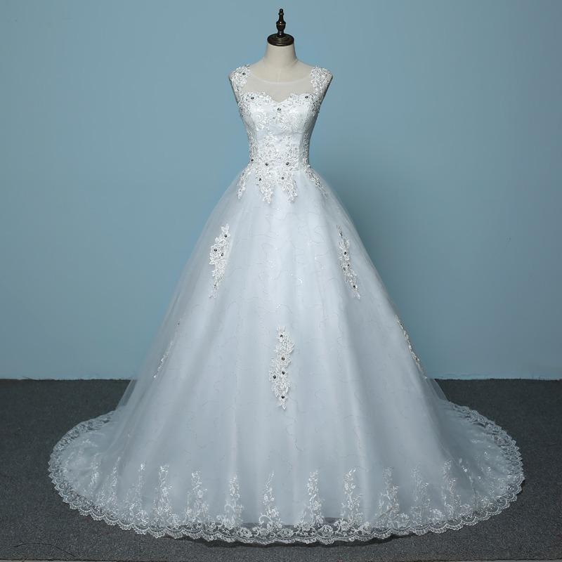 f63f95585 vestido novia romantico cola catedral apliques encaje corset. Cargando zoom.