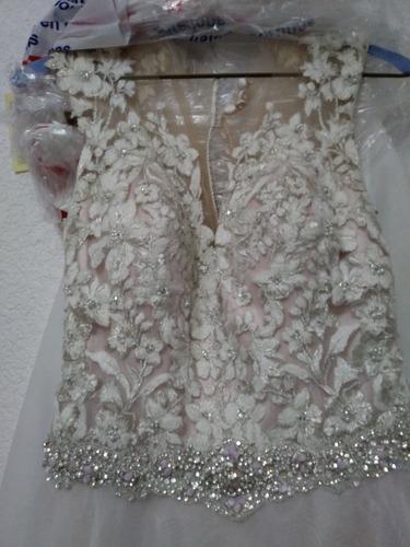 vestido novia rosa blush mori lee